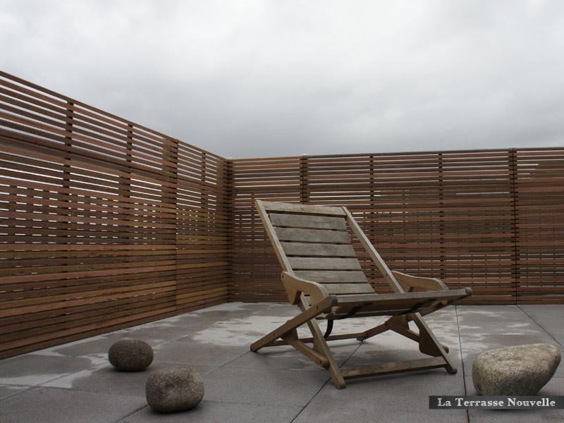 panneaux parevue à claire voie en bois exotique (ipé)