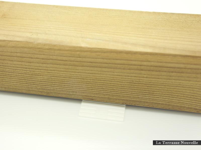 cales plates imputrescibles pour terrasse bois