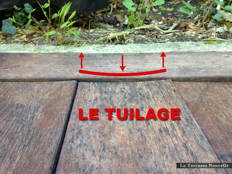 tuilage terrasses bois - La Terrasse Nouvelle