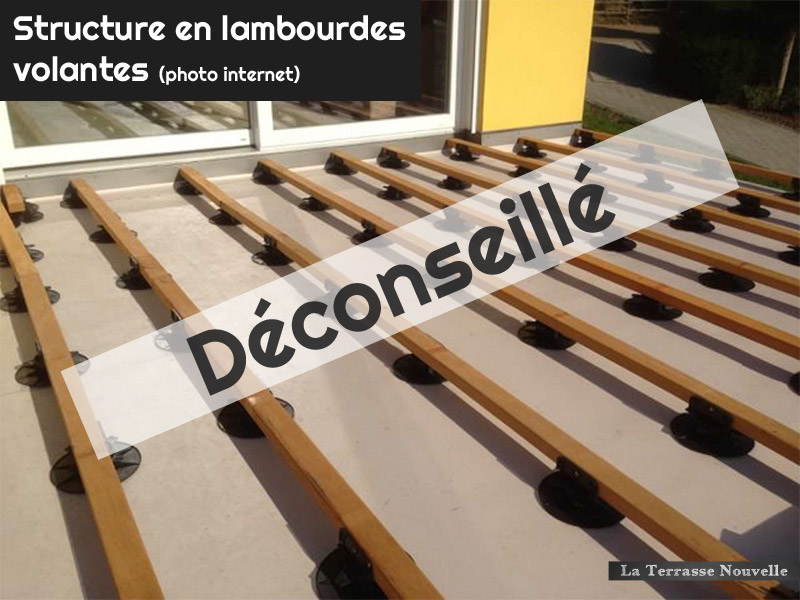 terrasse bois hauteur lambourde diverses. Black Bedroom Furniture Sets. Home Design Ideas